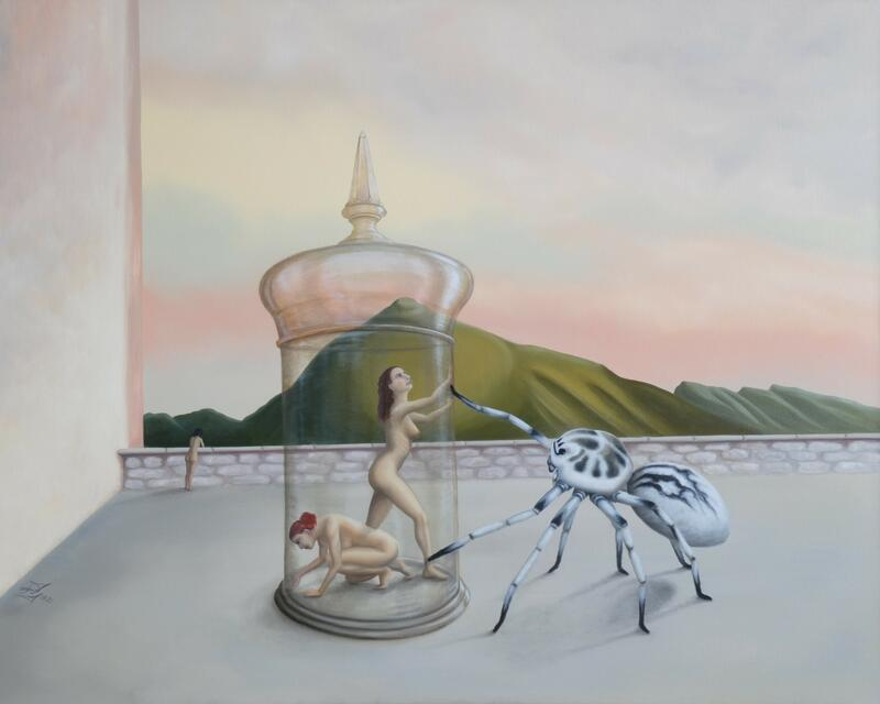 Julia Eckler, la libertad de la araña, Öl auf Leinwand