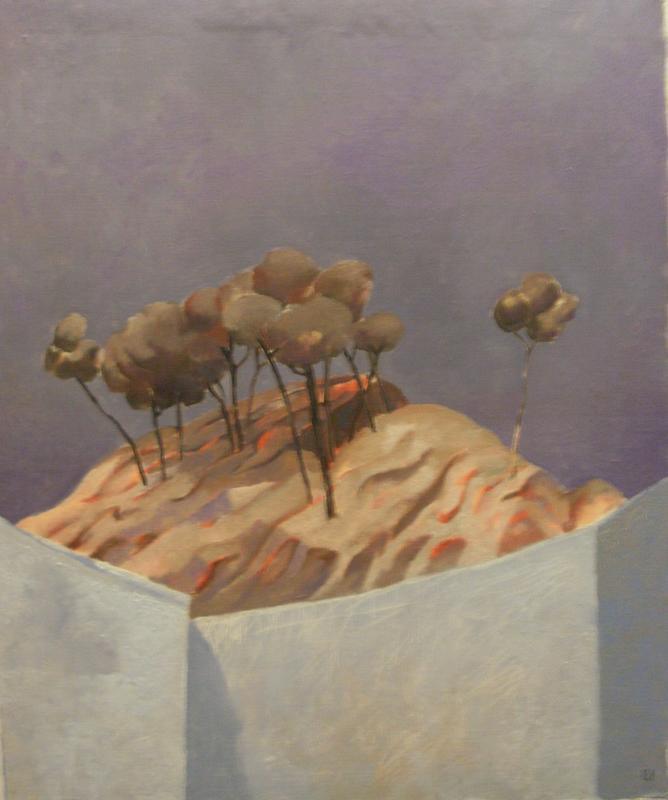 EBERHARD SCHLOTTER Pinienwäldchen, 1956, Öl auf Leinwand