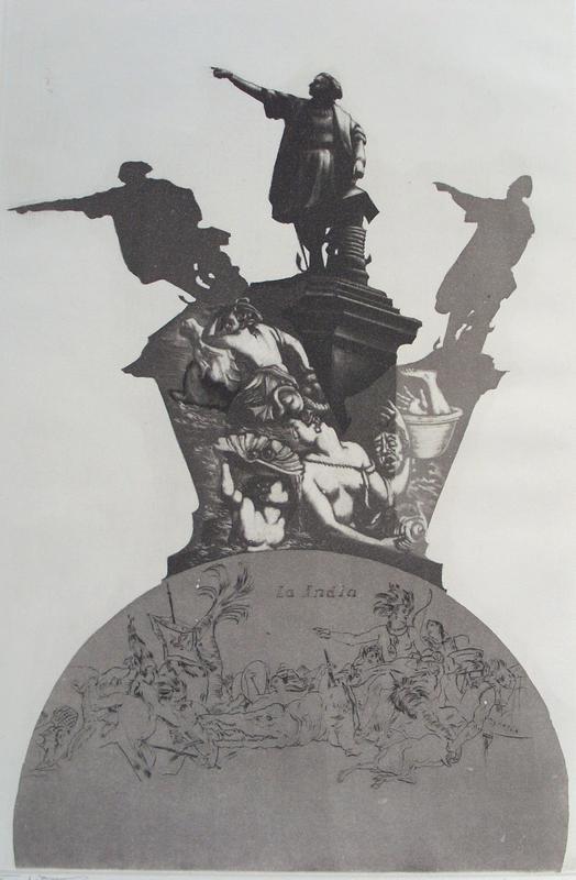 EBERHARD SCHLOTTER Kolumbus, Das Denk-Mal, 1984-88, Aquatint