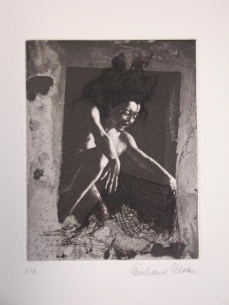 EBERHARD SCHLOTTER Die Innerste, Bl. 1, Radierung, 1989