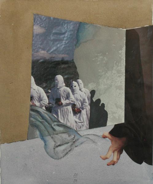 Die Eisheiligen, 1989, Collage, Mischtechnik
