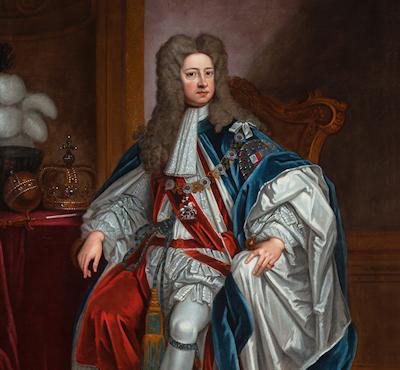 Georg I. König von Großbritannien, als Ritter des Hosenbandordens