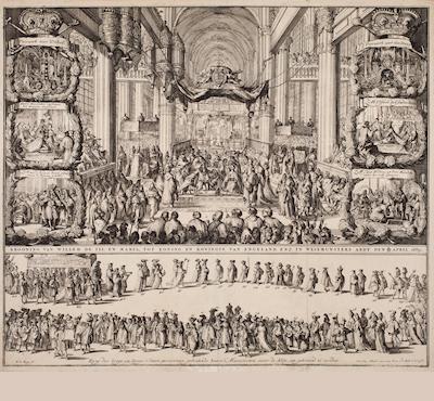 Krönung von Wilhelm III . und Maria II ., 1689