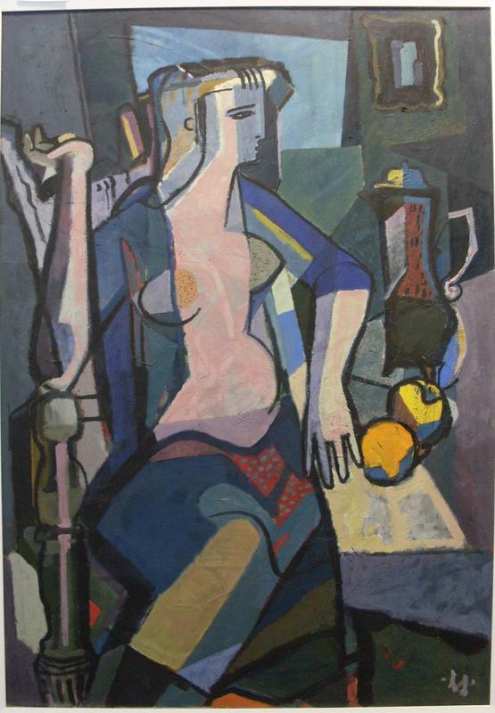 »Große Sitzende«, 1949, Öl auf Leinwand