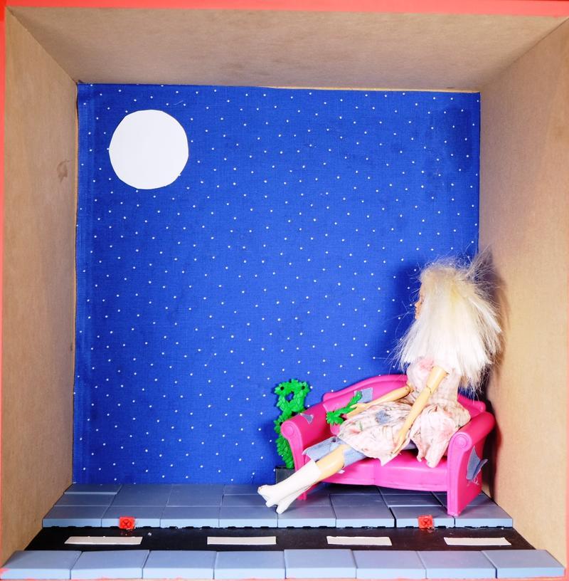 Straßenpenner Barbie