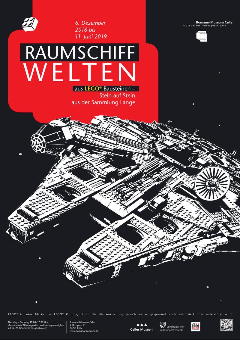 Plakat Raumschiffwelten aus LEGO® Bausteinen - Stein auf Stein aus der Sammlung Lange
