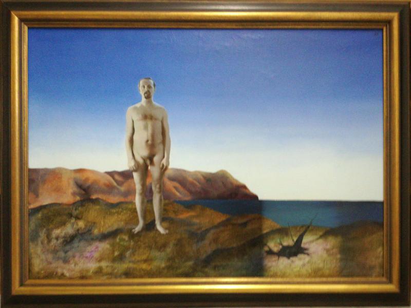 Selbst in Palomares, 1972, Öl auf Leinwand, Privatbesitz