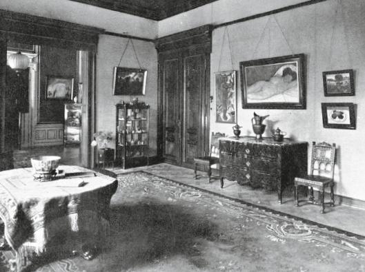 Blick in die erste Ausstellung der Galerie von Garvens